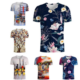 $enCountryForm.capitalKeyWord Canada - New Fashion T Shirt 3d City View T-Shirt Men Women tshirt Chic T Shirts Eiffel Tower Tee Umbrella Short Sleeve Flower Top S-5XL