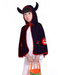 Special holiday giftS online shopping - Children Cape Kids Christmas Halloween Cloak Pumpkin Costumes Birthday Party Gifts Cartoon Poncho p l