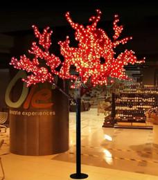 $enCountryForm.capitalKeyWord Australia - 2M 6.5ft Height LED Artificial Cherry Blossom Trees Christmas Light LED Bulbs 110 220VAC Rainproof fairy garden decor