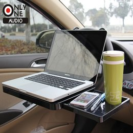 Wholesale only one audio Car Portable tray Folding Computer Desk with Drawer Steering Wheel Seat Vehicular Dining Table Car Laptop Desk
