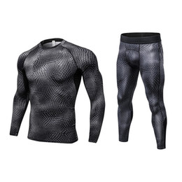 $enCountryForm.capitalKeyWord Canada - 2017 Fitness Tight Sport Suit Men Long Sleeve Shirt +Pant Men's Running Set Compression Gym Clothing Quick Dry Men's Sportswear