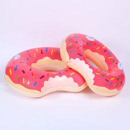 kids donut float Canada - Kids Donut Swimming Ring Summer Outdoor Swimming Ring Floats Pool Swimming Floating Boat Row Water Toy Wading Sports Toys 3 Colors
