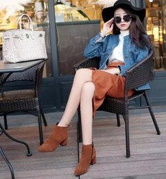 boots united states 2018 - 2018 autumn winter Europe and the United States ladies fashion leisure pointed suede warm warm with the Martin boots lad