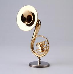 10.5 cm Mini sousaphone tamaño pequeño Instrumento de Música Ornamento Nuevo modelo de música Miniatura sousaphone Envío Gratis en venta