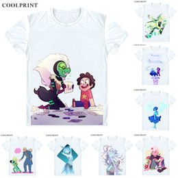 $enCountryForm.capitalKeyWord Canada - Steven Universe T-Shirts Short Sleeve Shirts Anime Manga The Crystal Gems Steven Quartz Universe Garnet Amethyst Pearl Cosplay Shirt