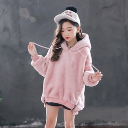 rabbit sweatshirt girl NZ - Girls Hoodies Winter Sweatshirts For Big Girls Rabbit Children's Top Autumn Kids Hoodies Teenage Girl Clothing 4 6 8 12 Years