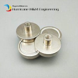 $enCountryForm.capitalKeyWord Australia - 1 pack Cup Mounting Magnet Diameter 32mm Lathed Magnetic Pots with Female Thread Neodymium Permanent Strong Holding Magnet