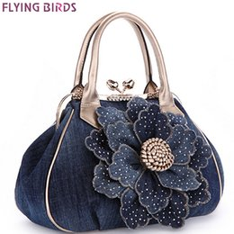 $enCountryForm.capitalKeyWord NZ - FLYING BIRDS Designer Women Handbag Vintage Flower Women's Tote Women Messenger Bags Ladies Purse Shoulder Bag Bolsas LM3361 D18102303