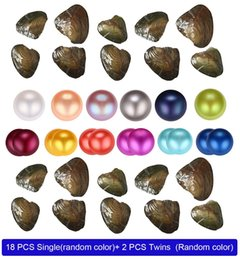 Wholesale Wholesale 25 color natural Freshwater Whole Pearls Oyster,Mixed color Freshwater pearl vacuum packaging Whole Oyster Shell free shipping