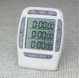 Wholesale 3 Channels Electronic Timers Laboratory Reminder Countdown Timer Digital Stopwatch Multi Functional Timer Interval Timer Stopwatch