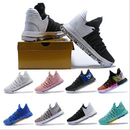 Discount low top kevin durant shoes - 2019 New Top Kevin Durant 10 Basketball Shoes Men Kd 10 Gold Championship MVP Finals Sports Shoes training Sneakers Runn