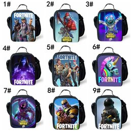 Cartoon baCkpaCk lunCh bags online shopping - 45 styles Fortnite Cosplay Lunch  Bag New Fashion Teenager f5d90768ac3d6