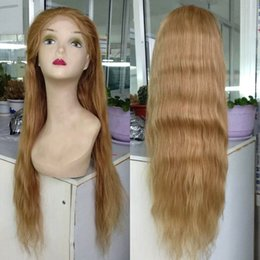 brazilian hair stocking NZ - 2017 new style medium density 24 natural straight #27 613 highlighted color cheap brazilian lace front wig human hair in stock