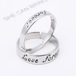 forever love steel ring NZ - new promise rings forever love stainless steel fashion couples ring for men and women unisex free shipping