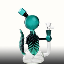 $enCountryForm.capitalKeyWord Australia - Cute Green Glass Bongs 20cm Tall Arm Tree Perc Hookahs Percolator With Bowl Joint 14.4mm Oil Rigs Glass Bongs Water Pipes