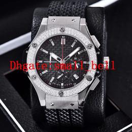 $enCountryForm.capitalKeyWord NZ - New products luxury 3A stainless steel mens six-pin diamond watch imported VK quartz chronograph 42MM men's rubber diamond watch