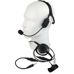 TacTical headseTs pTT online shopping - Finger PTT MIC Military Bone Conduction Tactical Headphone Headset for Yaesu Vertex VX R E R E VXA Radio Walkie talkie C2219A