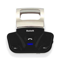 Discount steering handsfree bluetooth New Alloy Steering Wheel Wireless Bluetooth Handsfree Car Kit Handset Speaker