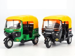 $enCountryForm.capitalKeyWord NZ - Alloy Car Model Toys, Three Wheeled Taxi with Light Sound, Pull-back, for Anniversary, Party Kid' Birthday' Gift, Collecting,Home Decoration