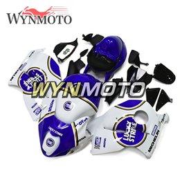 $enCountryForm.capitalKeyWord NZ - White Blue Lucky Strike Sportbike Covers For Suzuki GSXR1300 Hayabusa GEN 2 Year 1997 98 99 00 01 02 03 04 05 06 2007 ABS Injection Fairings