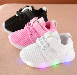 791c78a4b pure color Kids Shoes Led Light Sneakers Fashion Children Shoes Luminous  Glowing Sneakers Baby Toddler Boys Girls Running Shoes LED XXP44