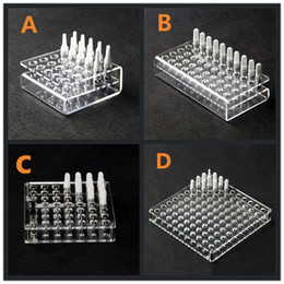 atomizer display case 2019 - CE3 Cartridge Atomizer Acrylic Display Rack Stands Clear Case 11mm Hole For 92A3 BUD Vaporizer O Pen 510 Oil Tank Ecig V