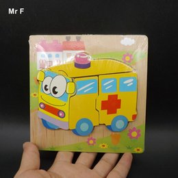 tangram puzzles for kids 2021 - Ambulance Wooden Puzzle Jiasaw Board Toys For Babys Kids Toddlers Children Teaching Prop Gadget Tangram Wooden Jigsaw