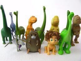 Boy Figurines Canada - 12pcs Set Arlo Spot The Good Dinosaur Anime PVC Action Figures Dinosaurs Figurines Kids Toys for Boys Girls Phone Accessories