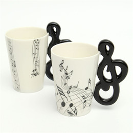 Music notes online shopping - Eco Friendly Hot Stave Music Notes Mug Ceramic Tea Coffee Milk Cup Musical Items Drinkware Porcelain Mugs Water Bottle For Office Home