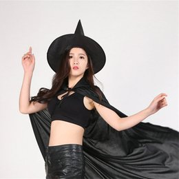 Delightful Cool Halloween Costumes Women Online Shopping   Cool Halloween Hat Adult  Women Black Witch Hat For