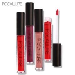 Mixing Red Purple Lipstick NZ - FOCALLURE Waterproof Mae Liquid Lipstick Moisturizer Smooth Lip Stick Long Lasting Lip Gloss Cosmetic Beauty Makeup
