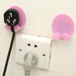 best sockets 2019 - Best selling 2018 product Wall Storage Hook Power Plug Socket Holder Wall Adhesive Hanger Home Drop shipping product X07