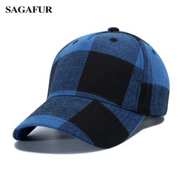 buy online a3e0a d59ae Red plaid hat online shopping - SAGAFUR Cotton Uisex Baseball Cap Men  Summer Outdoor New Arrival