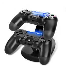 $enCountryForm.capitalKeyWord Australia - DUAL USB charging stand for PS4 controller ChargeDock Docking Cradle Station for wireless Sony Playstation PS 4 pro slim Game Charger DHL