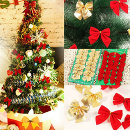 red bow christmas decorations australia christmas red cloth bow tie xmas tree decor bauble hanging - Christmas Decorations Australia