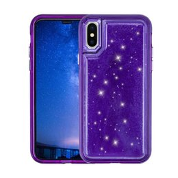 Free ip online shopping - For Ip x Case Hybird bling crystal Jelly Phone TPU PC Pressure Reduction Back Cover Cases For iP Plus case free shsipping