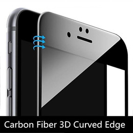 3d Glasses For Iphone Australia - Glossy Carbon Fiber 3D Curved Edge Tempered Glass Screen Protector For iPhone 8 7 6 6S Plus HD Clear Tempered Glass with packing