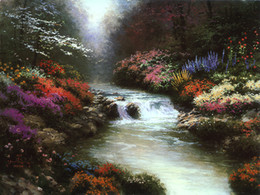 thomas kinkade prints Australia - Unframed or Framed Thomas Kinkade Landscape Oil Painting Reproduction High Quality Picture Printed On Canvas Modern Home Art Decor HT184