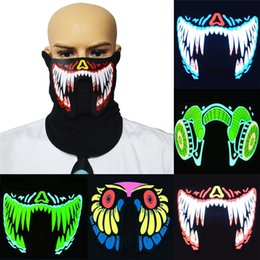 $enCountryForm.capitalKeyWord Canada - EL Wire LED Face Mask Cold Light Helmet Festival Party Glowing Outdoor Sports Riding Windproof Christmas Halloween Light UP Cosplay Xmas
