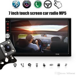 dual audio car 2019 - 7012B 7 Inch Dual Core Bluetooth TFT Screen 2-Din Car Audio Stereo MP5 Player 12V Auto Support AUX FM USB SD MMC with ca