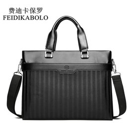 Leather computer bags online shopping - FEIDIKABOLO Men Casual Briefcase Business Shoulder Bag Leather Messenger Bags Men s Travel Bags Computer Laptop Handbag Bag