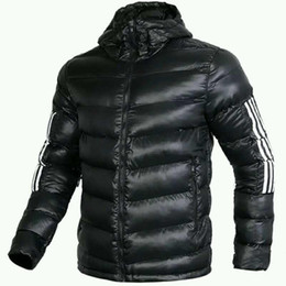 Light Strip Color Australia - Men's Casual Jacket Mens Designer Thick Autumn Winter Jacket Brand Light-weight Slim Solid Color Coat with White Strips Size M-4XL