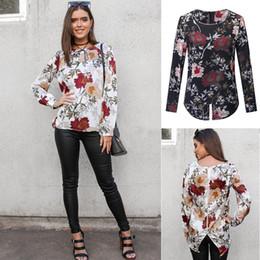 96506bcd4f1 Floral Printed Casual Loose Blouse Shirts Women Back Zipper Female Tops Long  Sleeve Boho Autumn Blouses 2018 Blusa