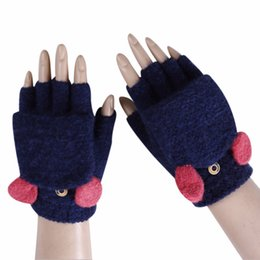 Back To Search Resultsapparel Accessories New Kpop Black Pink Women Cute Fleece Gloves Feamle Winter Thick Soft Warmer Mittens Gloves Winter