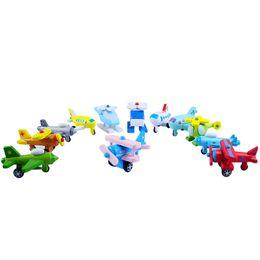 $enCountryForm.capitalKeyWord UK - 12pcs Mini Model Plane Children Learning Education Toy Multi Color Wooden Aircraft Modle Toys Hot Sale 47 5pd W