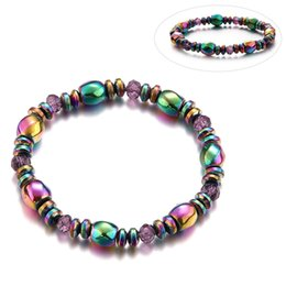 HealtH bangles online shopping - Lover Beauty Colorful Twisted Hematite Health Bracelets Jewelry Magnetic Bangles Charm Bracelets For Women Weight Loss