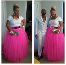 Fashion tutu skirts For adults online shopping - African Fashion Style Fuchsia Skirts For Women Long Floor Length Long Ruched Tulle Adult Tutu Skirt Custom under skirt
