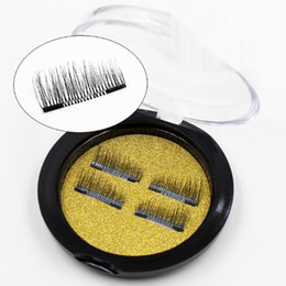 magnetic boxes wholesale UK - 3D Magnetic Lashes Magnet Fake False Eyelash 4pcs box Double 3D Ultra-thin Eyelash Extension Soft Makeup Maquiagem Tools