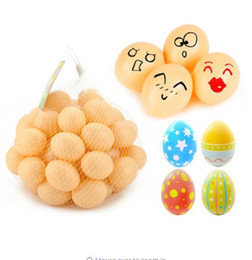 Drawing Diy online shopping - DIY Painting Easter Eggs Kids Toys Hand drawn colorful simulation toy eggs Easter Party Favors Gifts DIY Painting Egg KKA4458