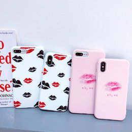 Sexy Girl Iphone Australia - 3D Luxury Designer Sexy Lips KISS ME Case for IPhone X XS 8 7 6 6S PLUS Pink Phone Shell Couple Fashion Girls Cases Soft Silicon Cover